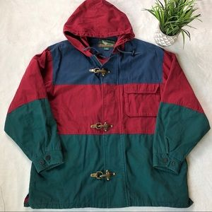Vintage Field And Stream Colorblock Coat